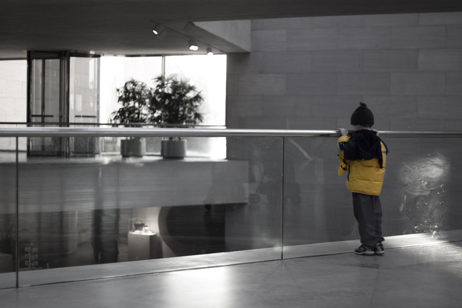 boy in museum